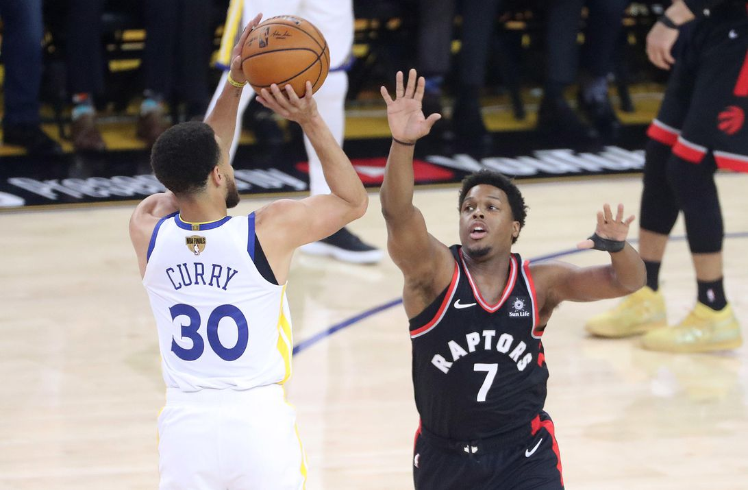 Toronto Raptors play the Golden State Warriors in game three of the NBA Finals