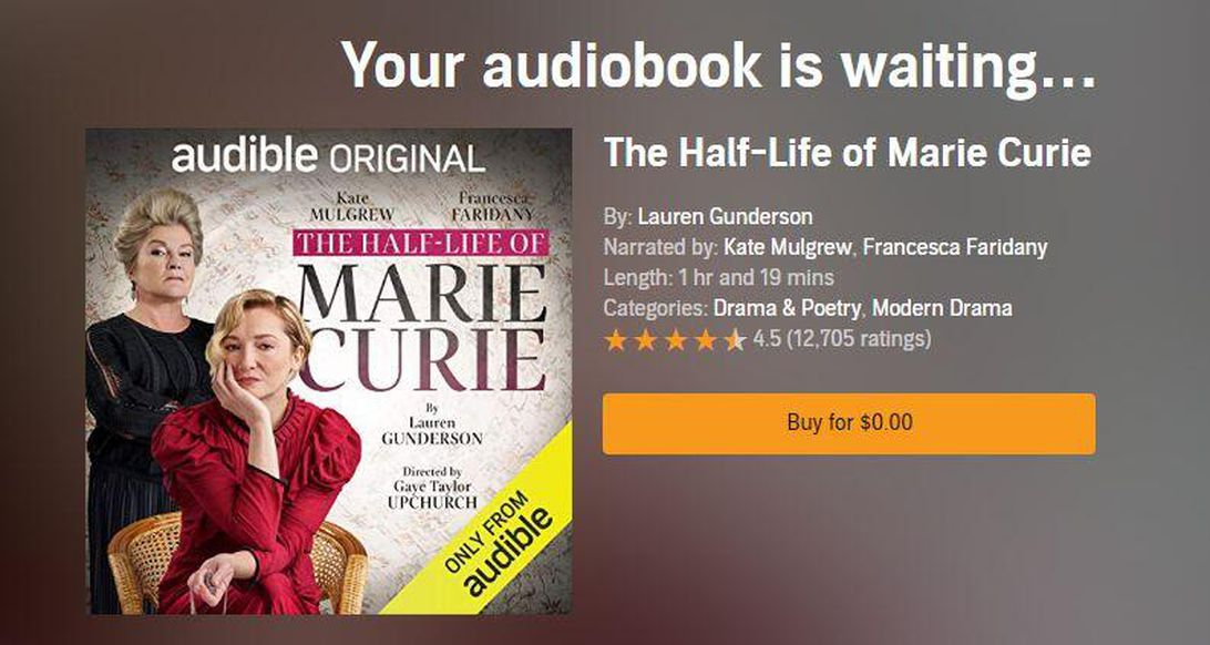 audible-original-the-half-life-of-marie-curie