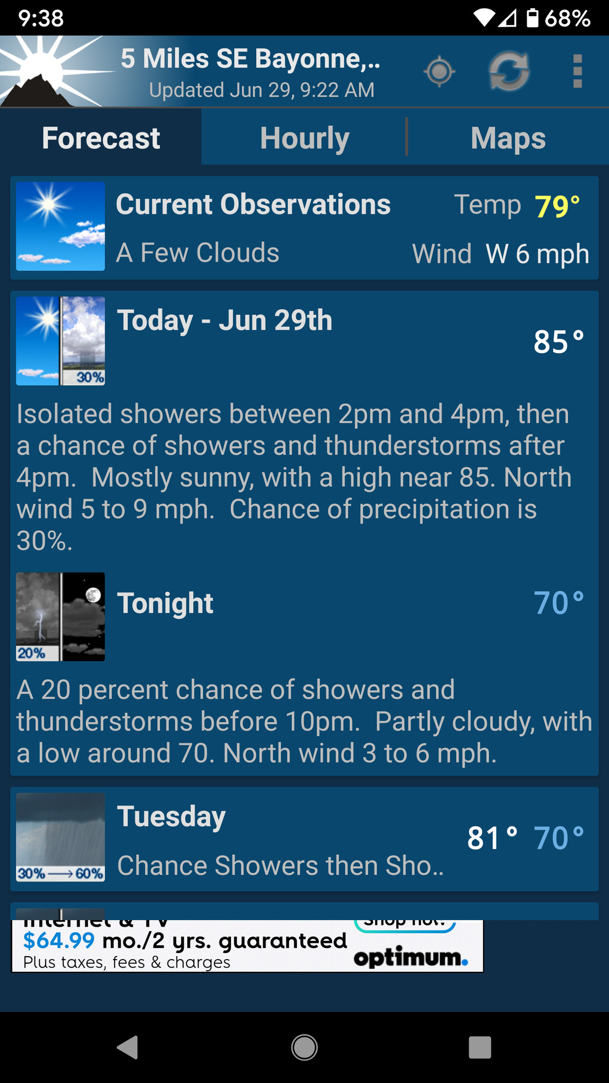 This app pulls its info directly from the NOAA.