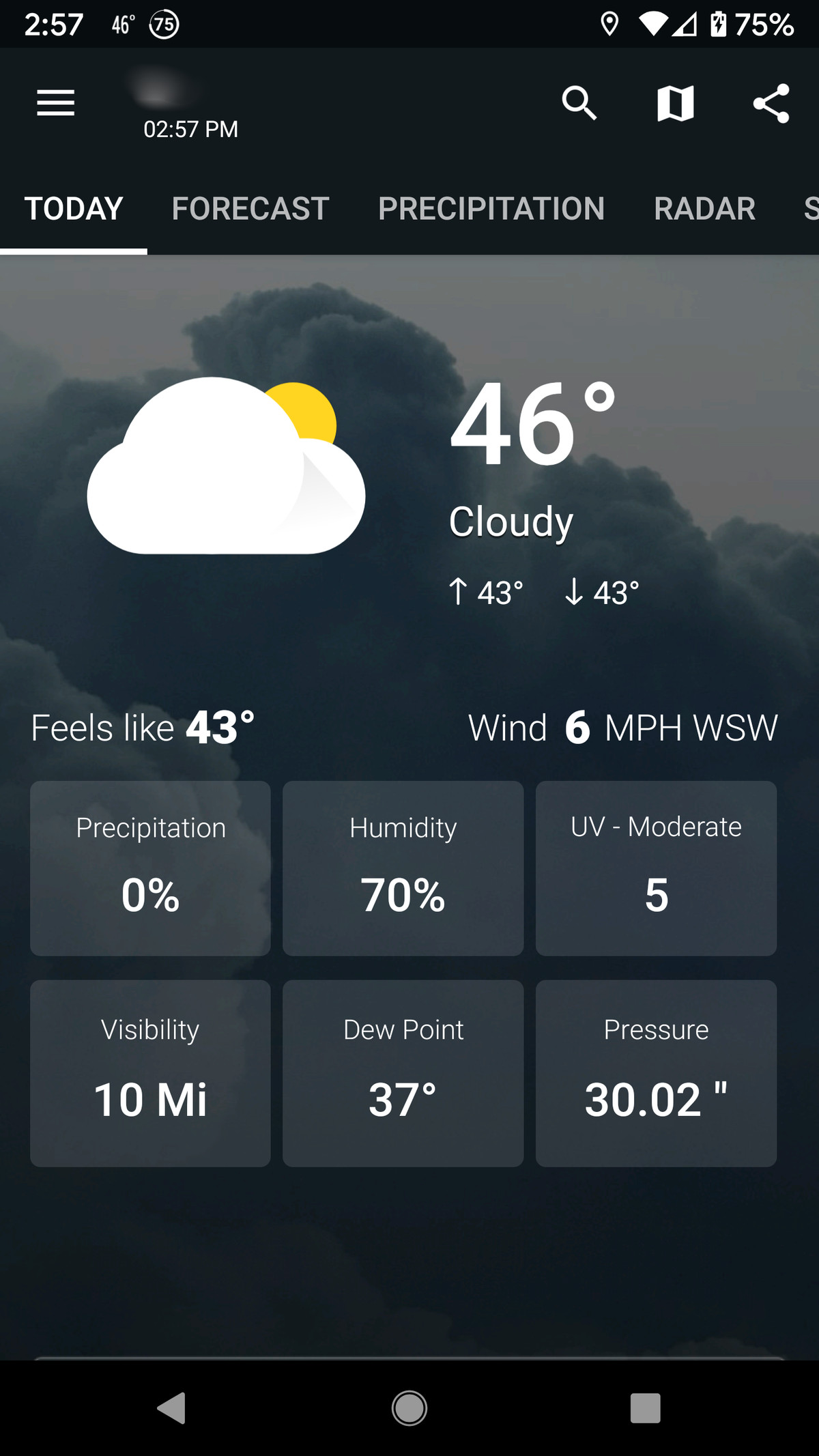 1Weather offers a good amount of info.