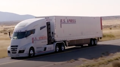 Photo of Nikola electric lorry just rolling downhill in promo video