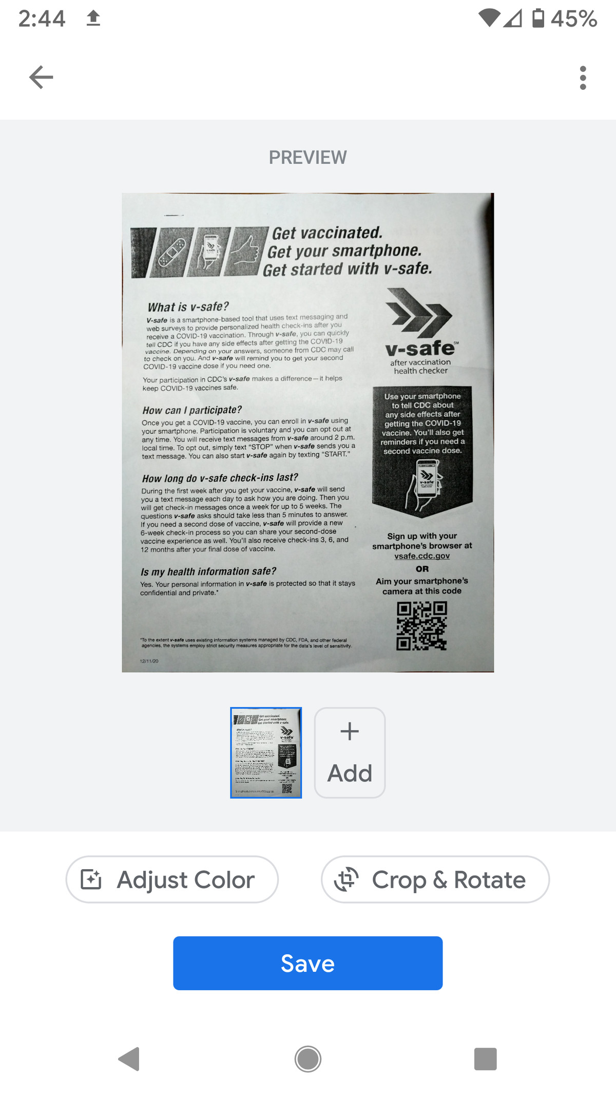 There are basic edit features for the PDF.